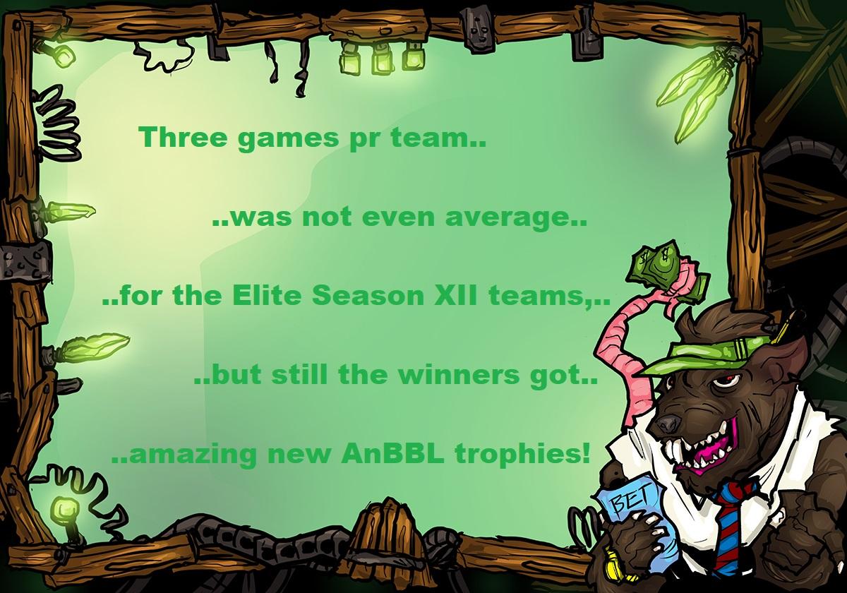 Fritz von List summarizing the AnBBL Elite Season XII